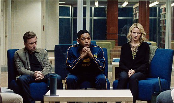 Tim Roth, Naomi Watts, and Kelvin Harrison Jr. in Luce (Courtesy of Sundance Film Festival)
