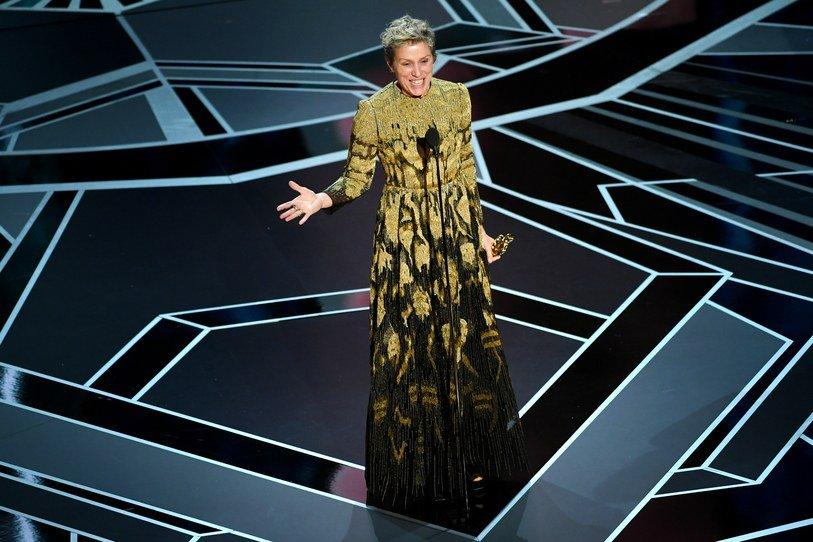 Frances McDormand Oscar speech 2018 Academy Awards three billboards Kevin Winter Gettyimages