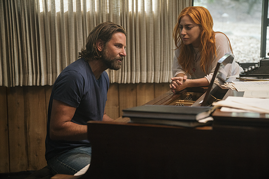 Lady Gaga and Bradley Cooper as Ally and Jackson in A Star is Born