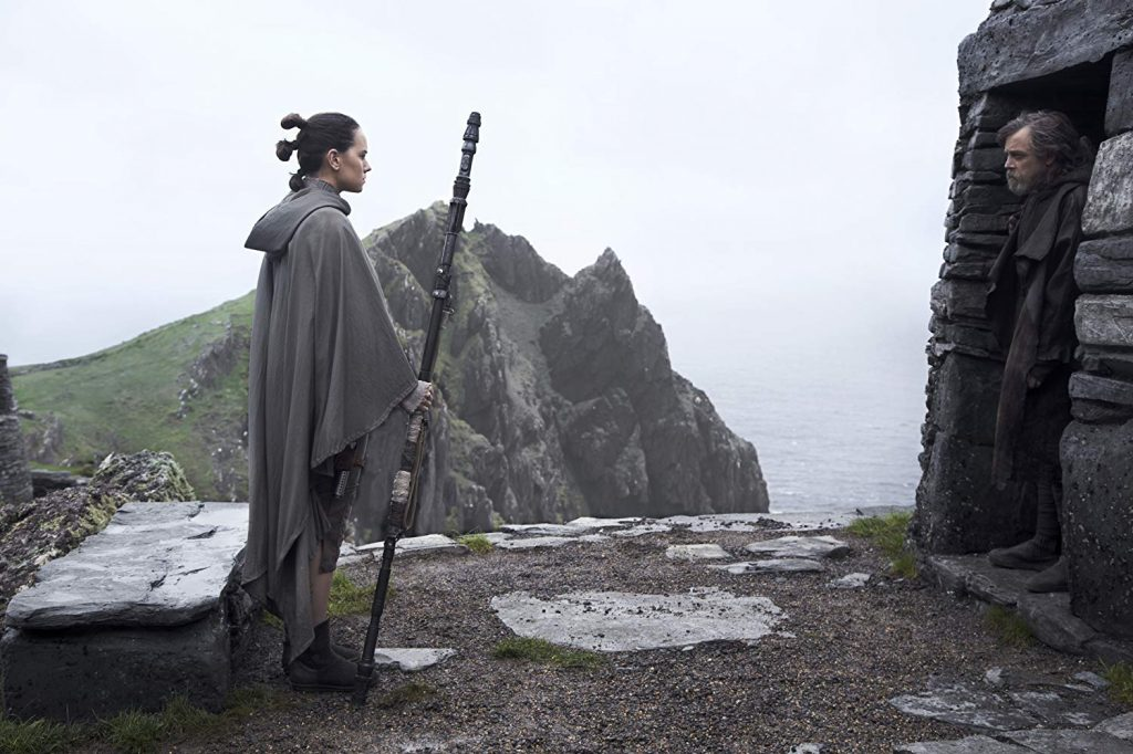 Mark Hamill and Daisy Ridley in Star Wars: Episode VIII - The Last Jedi