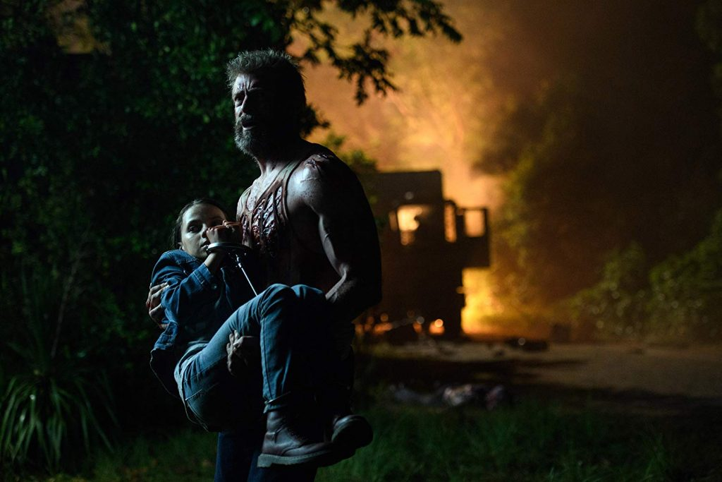 Hugh Jackman and Dafne Keen in Logan marvel wolverine