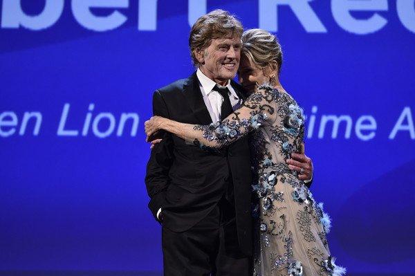 Robert Redford and Jane Fonda at the 74° Venice International Film Festival