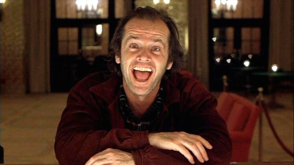 top 5 horror films Jack Nicolson The Shining