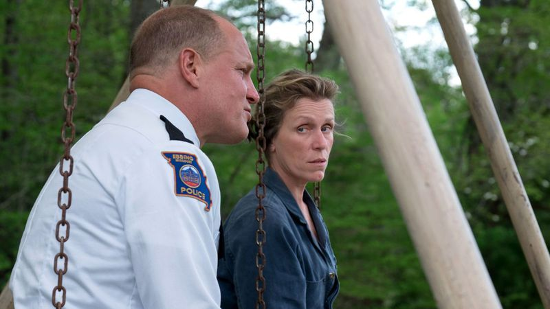 Woody Harrelson and Frances McDormand Three Billboards Outside Ebbing, Missouri