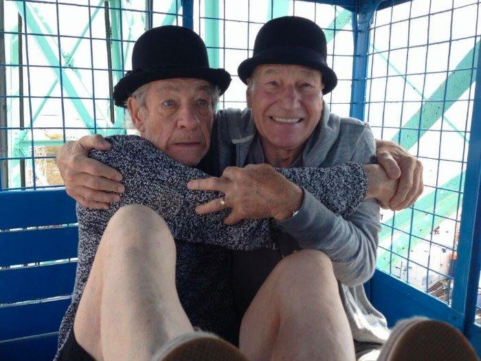 Ian McKellen Patrick Stewart funny photo