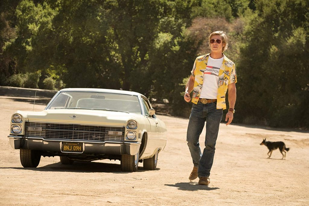 Brad Pitt in C'era una volta a Hollywood tarantino