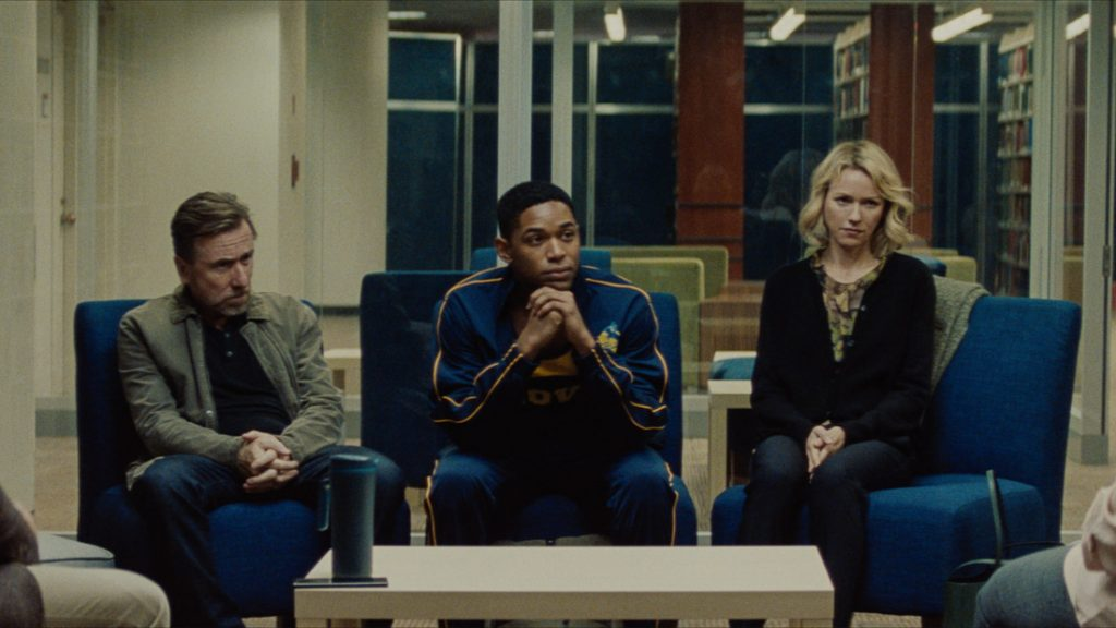 Tim Roth, Kelvin Harrison Jr and Naomi Watts in Luce (Jon Pack/Neon)