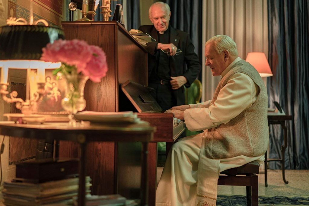 Loud and Clear reviews The Two Popes Netflix Anthony Hopkins Jonathan Pryce