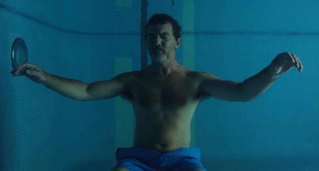 Loud and Clear Reviews Pain and Glory Antonio Banderas water