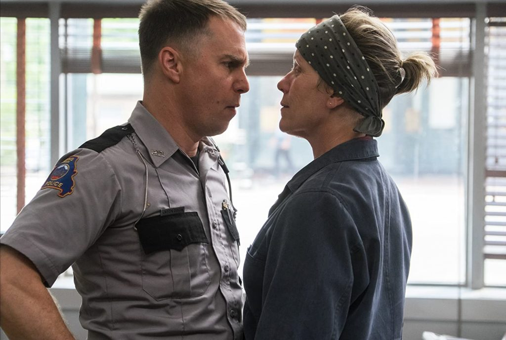 Loud and Clear reviews three billboards sam rockwell