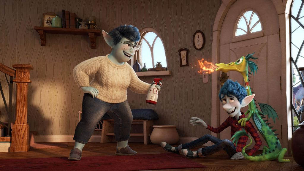 Loud and Clear reviews Onward Pixar dragon house