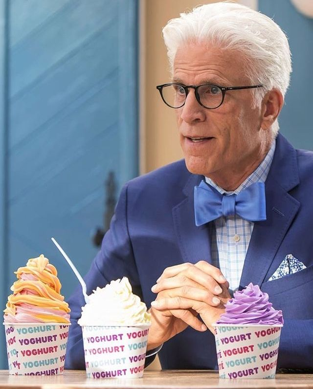 loud and clear reviews Ted Danson frozen yoghurt