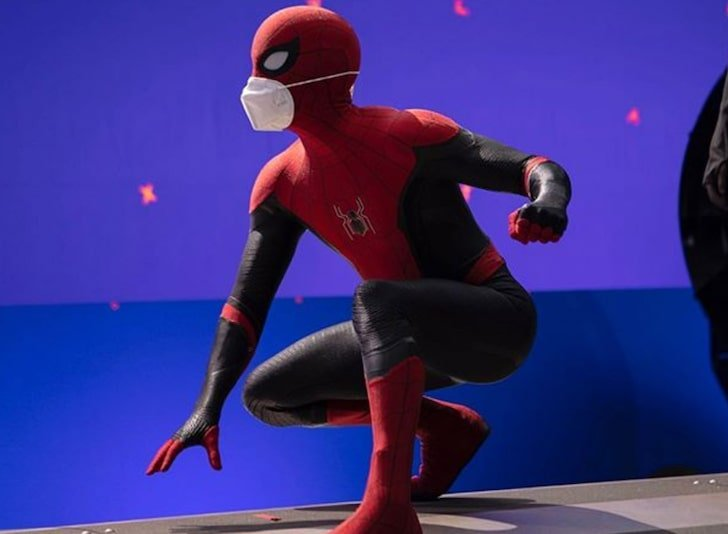 loud and clear reviews Most Anticipated Movies of 2021 tom holland on set spider-man mask