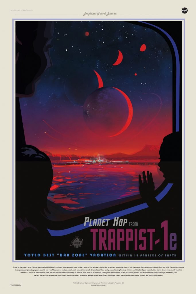 loud and clear reviews trappist system poster the hunt for planet b